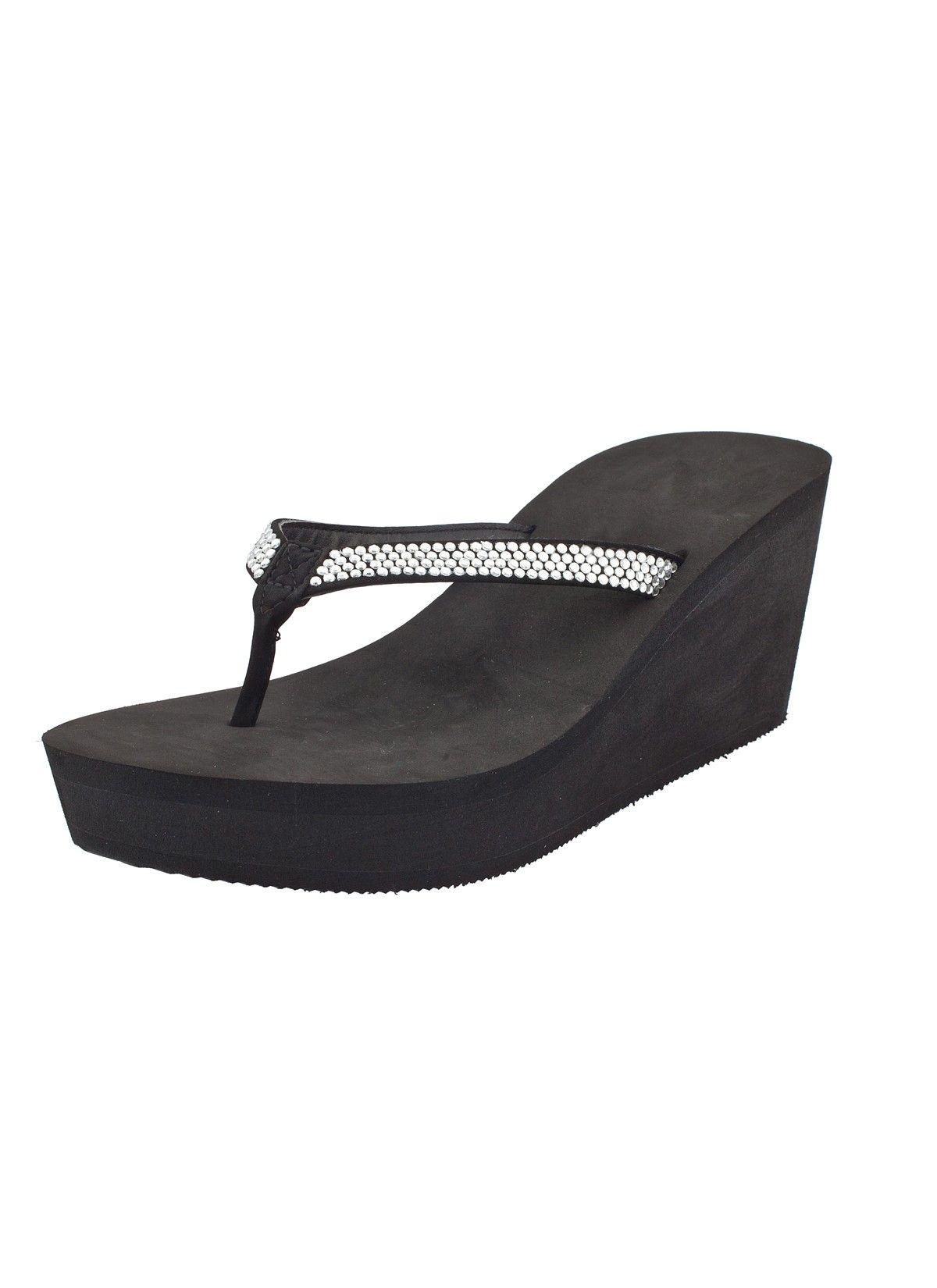 e81ac9fc7 Shop Prima Donna - Placid Platform Flip Flops Black at Prima donna ...