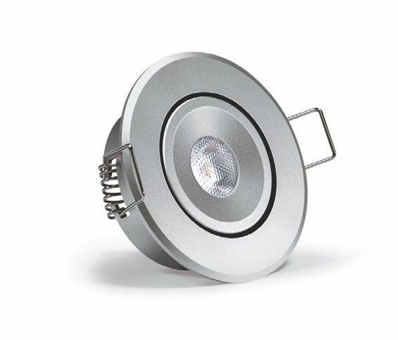 Wipro Garnet Plus 2W Round LED Spotlight 2700K In Aluminium Finish - led deckenlampen küche