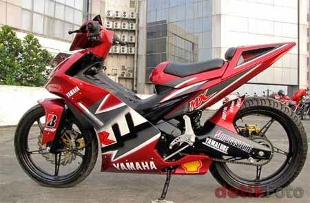 Custom Yamaha Jupiter Mx 135 Motor Gambar