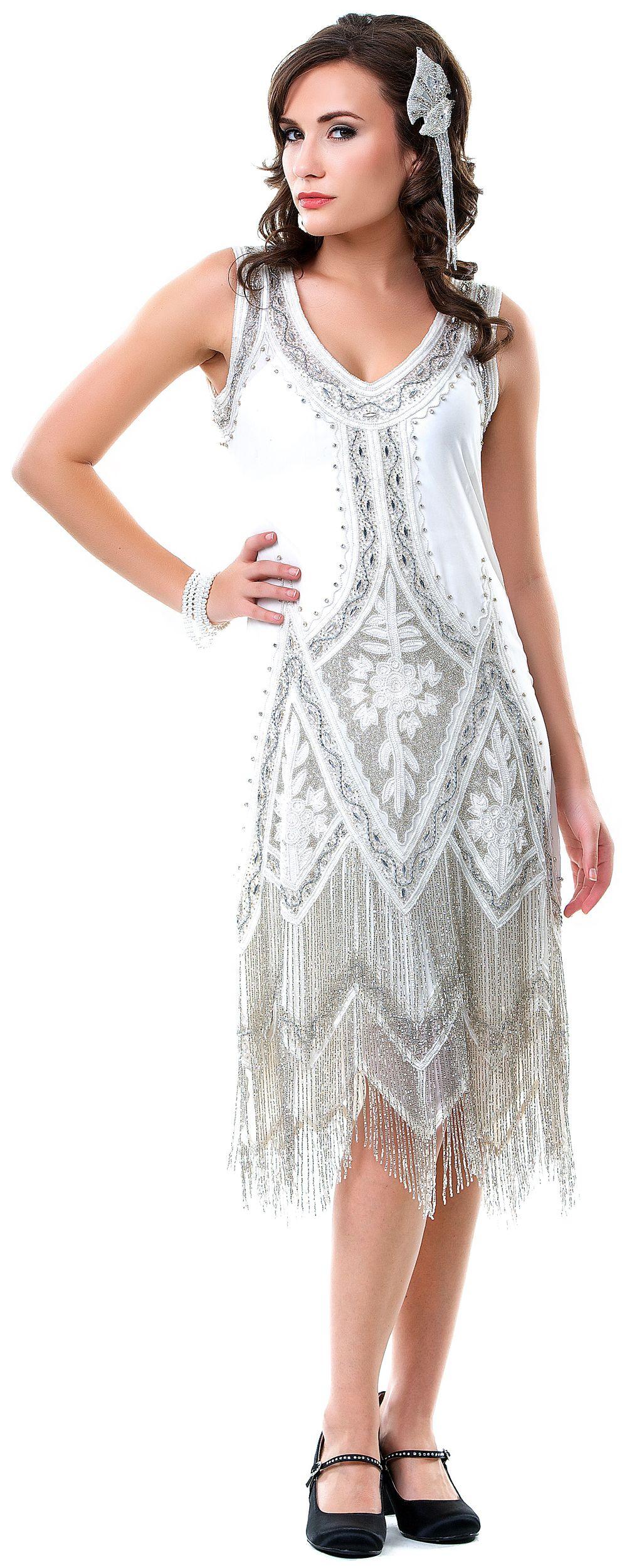 1920s Wedding Dresses Art Deco Wedding Dress, Gatsby