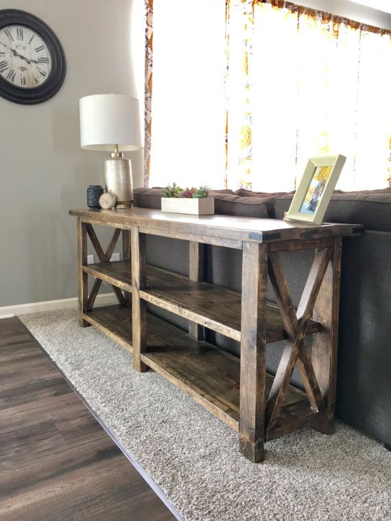 Rustic Farmhouse X Console Sofa Table By Berrywooddesigns On Etsy
