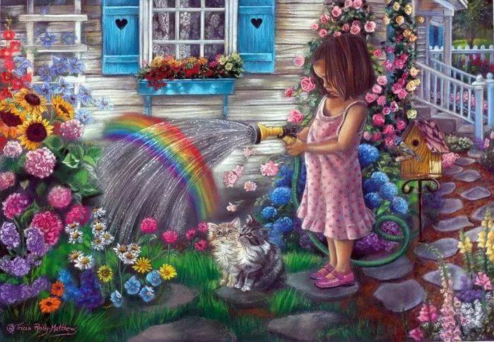 Месяца, картинки на тему девочка рисует