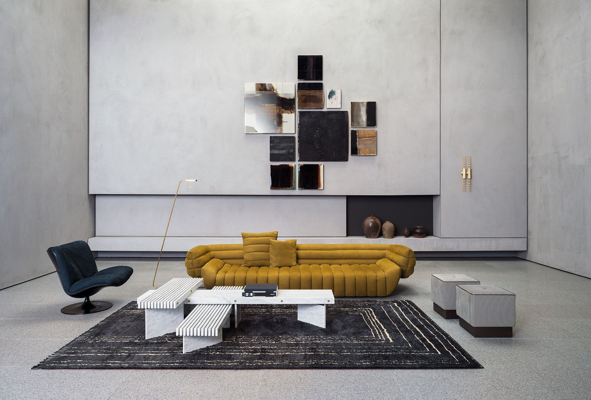 Berbere Dark Grey Natural Pattern B Baxter In 2020 Furniture Leather Sofa Kids Furniture Stores