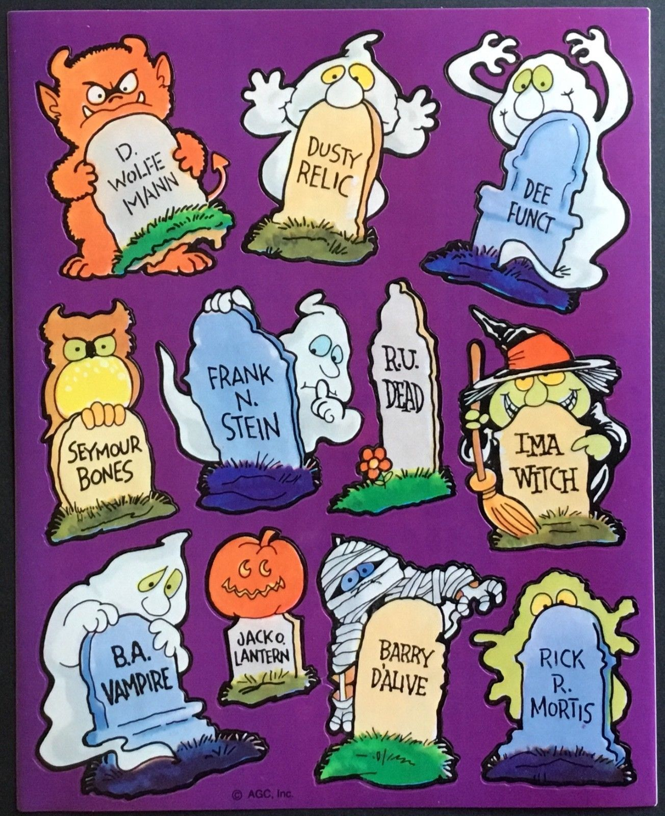 Vintage Stickers Mint Condition!! Gibson Greetings Halloween