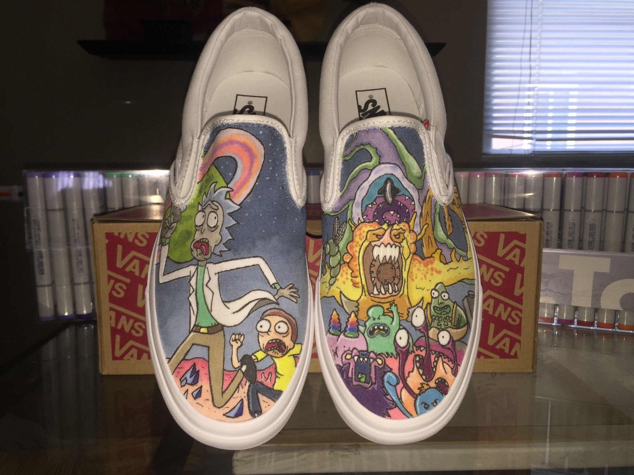 145ff556d1a Custom Rick and Morty Vans
