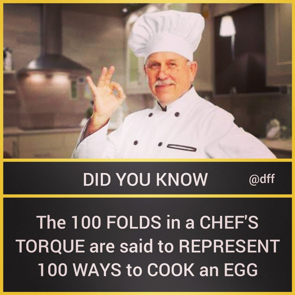 100 Folds In A Chef S Hat Daily Fun Facts Unbelievable Facts Chefs Hat