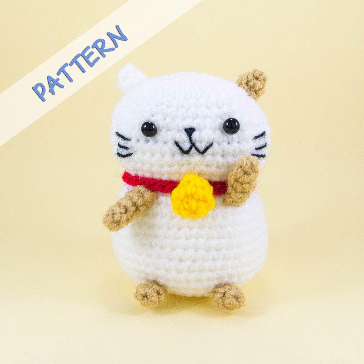Lucky Cat Crochet Pattern PDF -- DIY Maneki neko Amigurumi Pattern ...