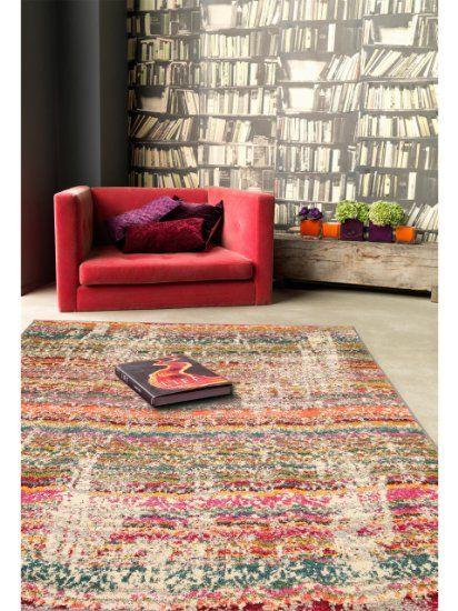 benuta Teppiche Moderner Designer Teppich Liguria Multicolor - wohnzimmer beige karo