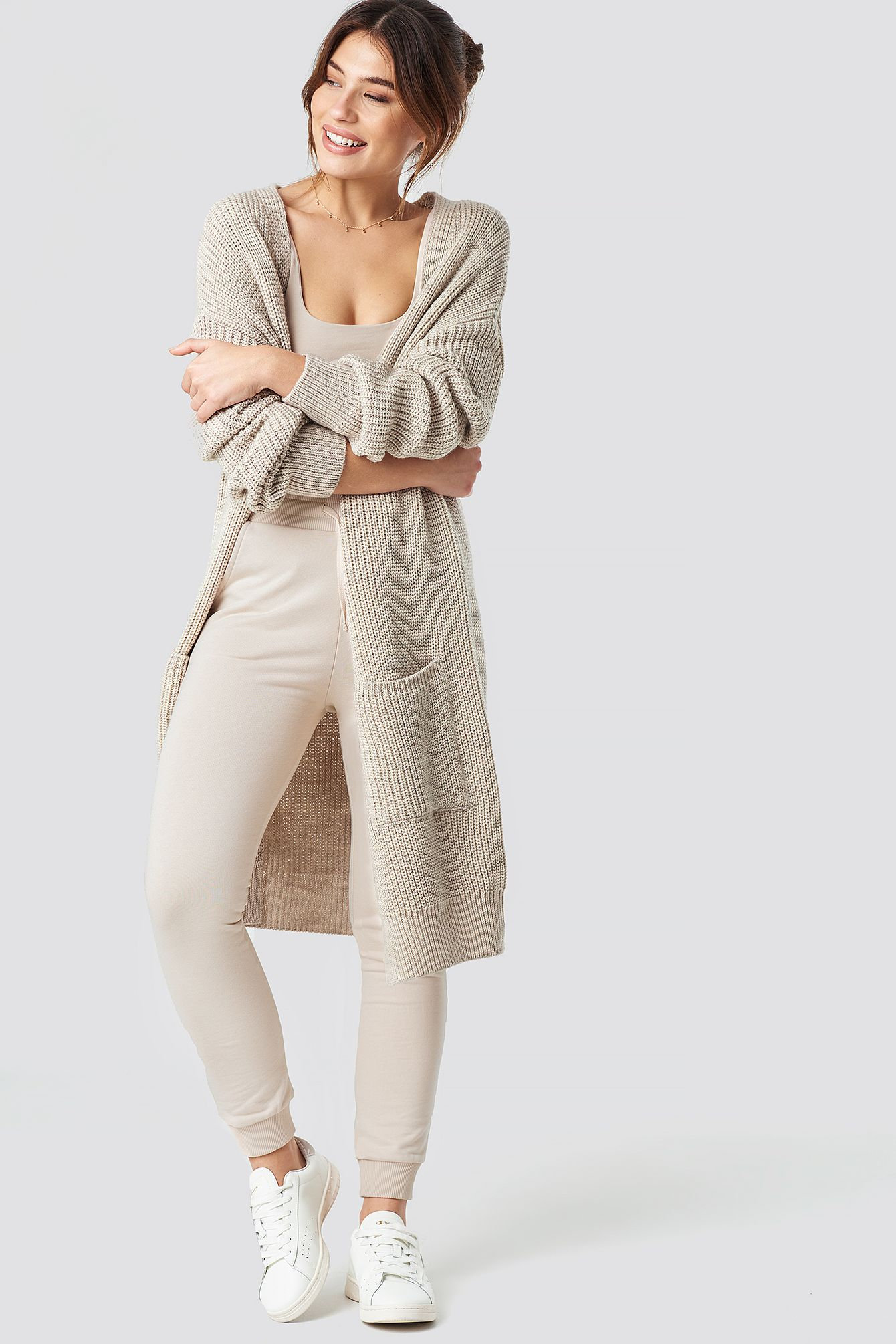 new product b4025 46be8 Pamela x NA-KD Knitted Cosy Cardigan - Beige | Yaya in 2019 ...