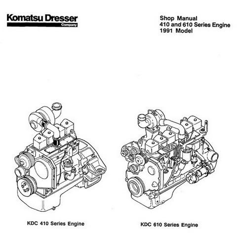 Komatsu 410 & 610 Series Engine 1991 Model Service Repair
