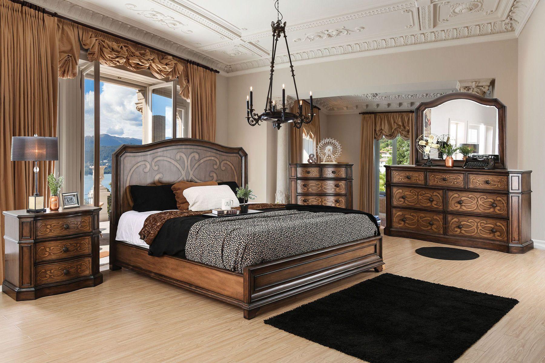 Furniture Of America Emmaline Transitional Style Chestnut