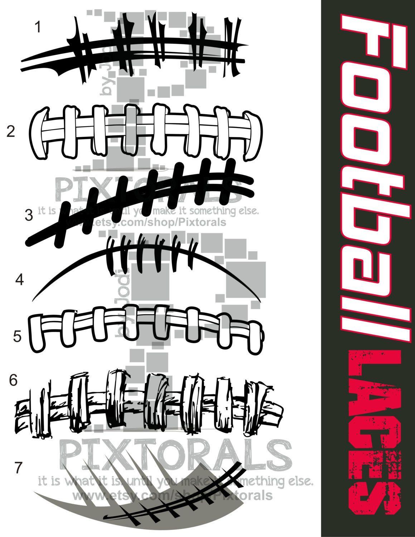 Football Vectors 7 Football Laces Vectors As Png Jpg By Pixtorals Football Clips Football Clip Art Football Spirit Shirts