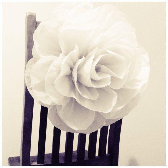 5 X Large Handmade Tissue Paper Roses 50cm In Diameter Make Great