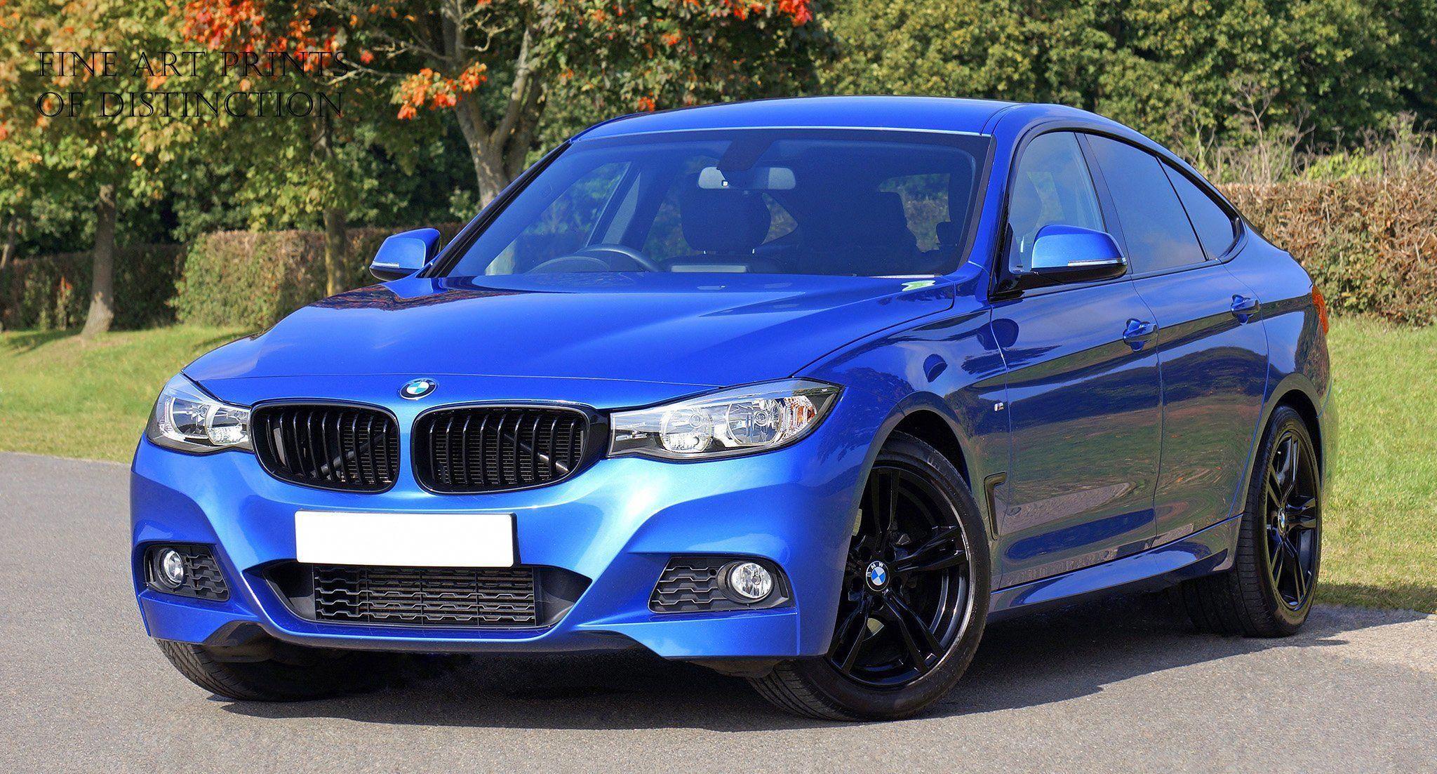 BMW Blue Sedan Car Art Print | Cheap car rental, Bmw blue