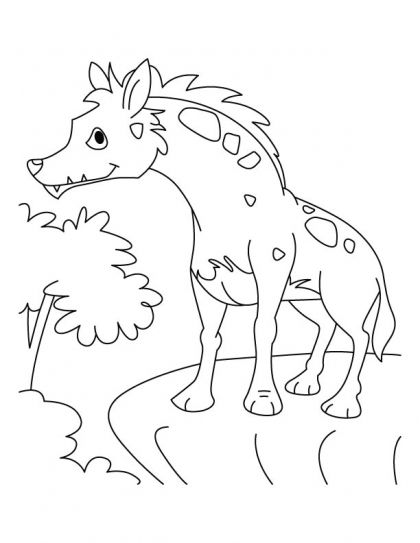 howling jackal coloring pages