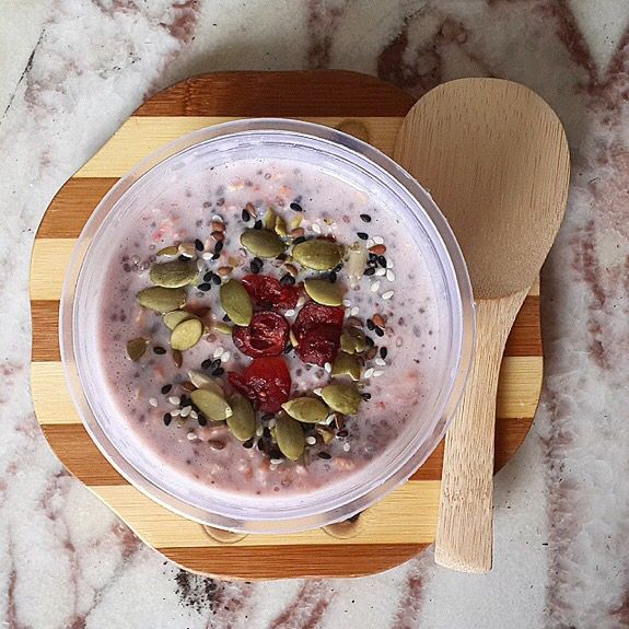 Very Berry Chia Seed Overnight Oat By Mychia Id Follow Our Instagram Twitter Fb Page Indohomemade For More Indonesian Homemade Food