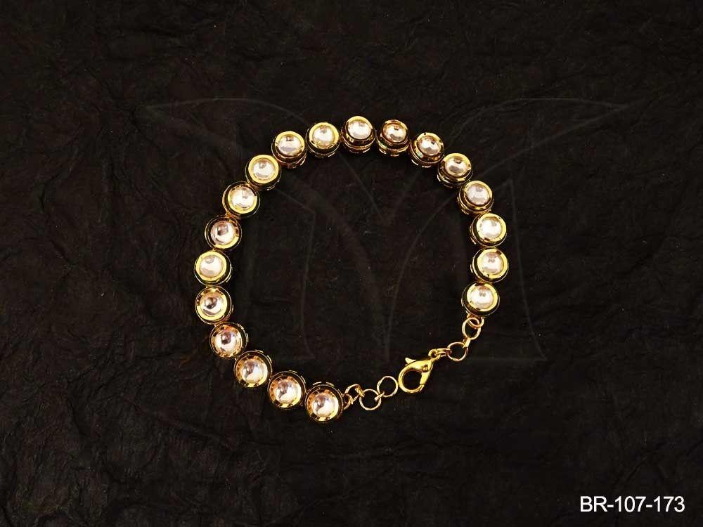 ROUND STONE KUNDAN BRACELETS Manek Ratna Kundan Bracelets