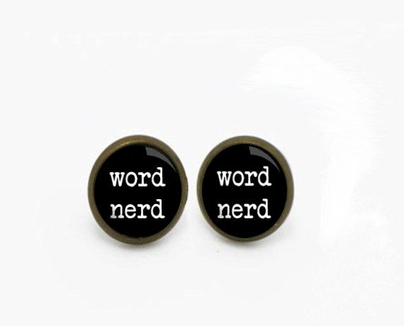 Have a favorite word in mind? Ask about custom word earrings or quote necklaces! Gunmetal