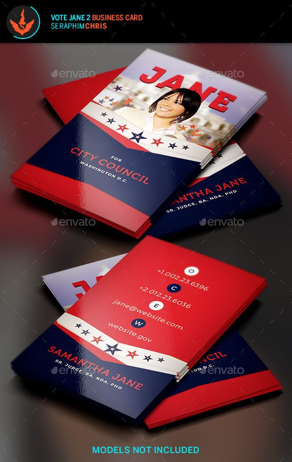 Vote jane 2 political business card template pinterest card vote jane 2 political business card template corporate business cards colourmoves