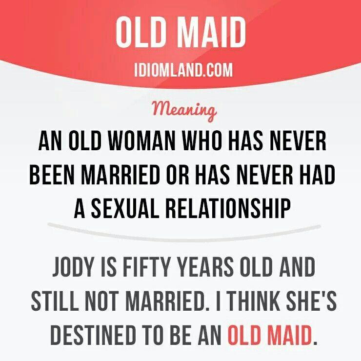Old maid #English