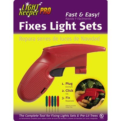 Shop LightKeeper Pro Miniature Light Set Repair Tool at Lowe's Canada. Find  our selection of christmas light accessories & tools at the lowest price ... - LightKeeper Pro Miniature Light Set Repair Tool *Lowe's Canada
