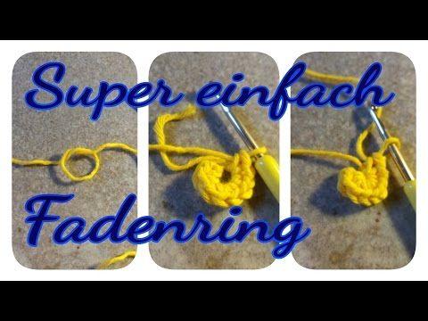 Einfachste Methode Magischen Ring Zu Häkeln Faden Ring Häkeln