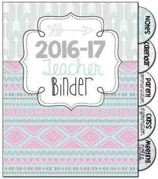 All-in-One Simple Style Teacher Binder {Tribal Patterns} #bestresourceever #tpt