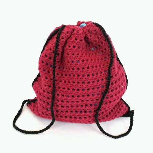 Crochet Pattern Drawstring Backpack Crochet Purses And Baskets