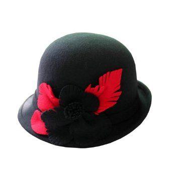 Hee Fly Women's Vintage Wool Cloche Winter Hat