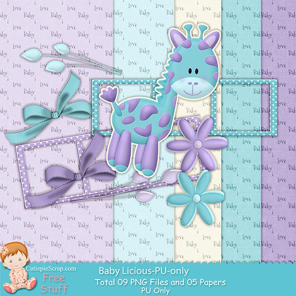 Free Digital Scrapbook Kits Free Digital Srap Kit Baby Licious