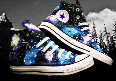 galaxy converse.high tops | Galaxy converse, Galaxy shoes