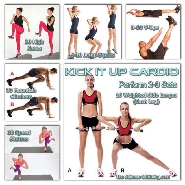 Workout Kick It Up Cardio (2)   exercise   Pinterest   Cardio ...