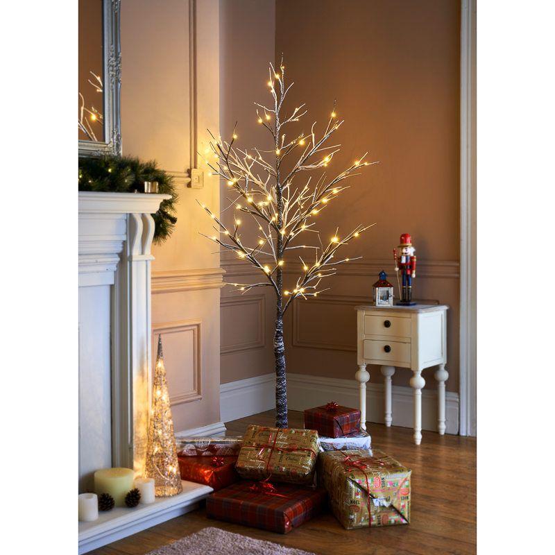 Snowy Twig Christmas Tree 6ft Tree Ebay Interieur
