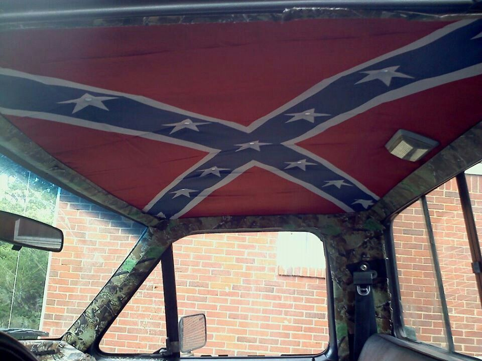 Rebel Flag Roof My Cousin Put In His Truck Country Love - Rebel flag truck decals   online purchasing