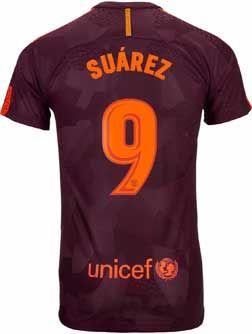 64250d3c47a 2017 18 Nike Luis Suarez FC Barcelona 3rd Match Jersey. Shop for it now