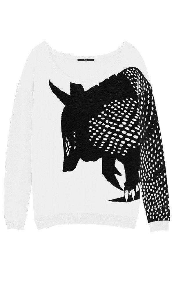 Tibi - Armadillo Intarsia Sweater