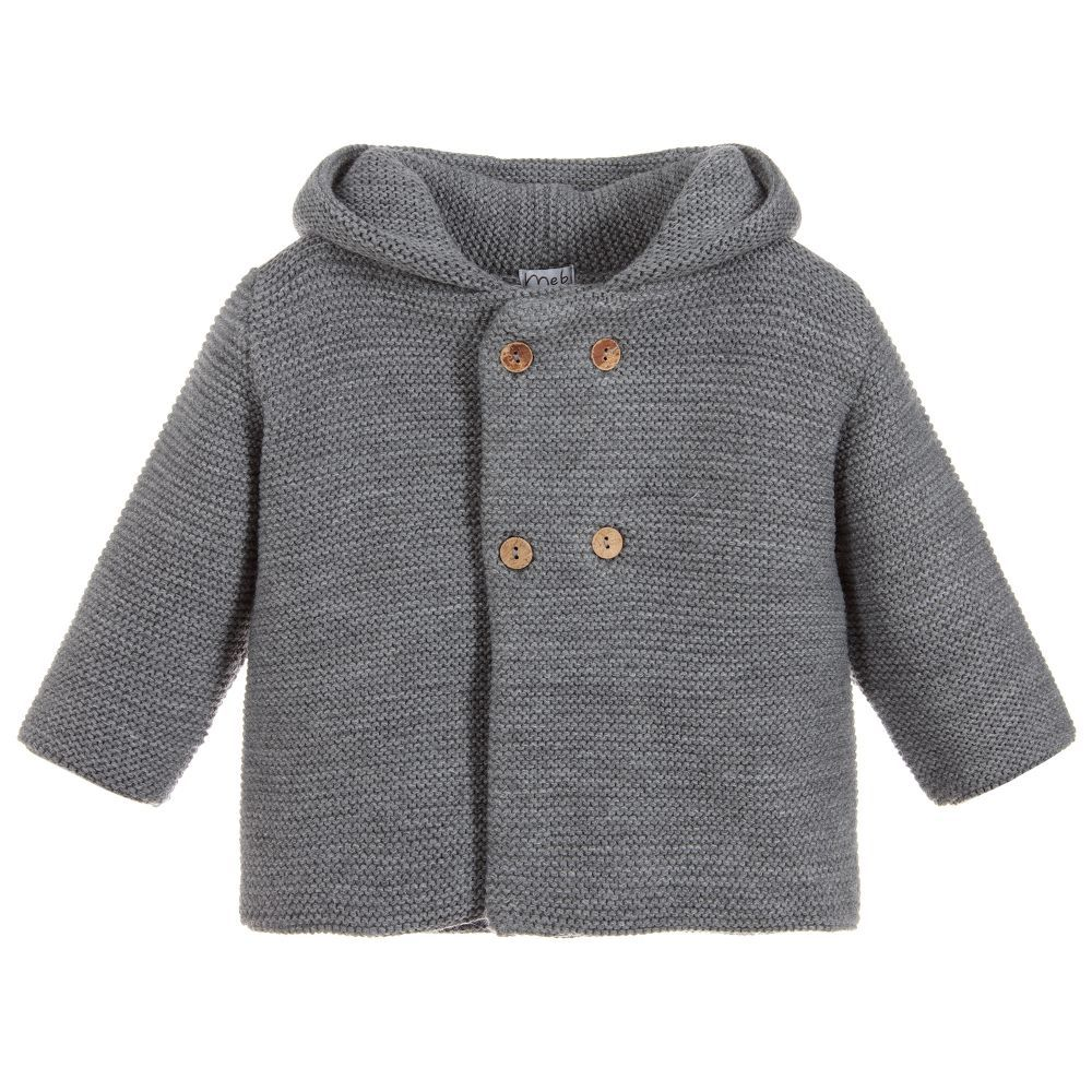 6ef229f7c09f Mebi Grey Knitted Pram Coat. Shop from an exclusive selection of ...