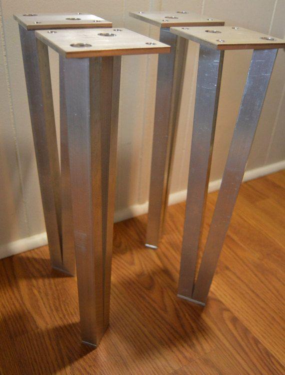 The Best Unfinished Metal Table Legs V Leg By Handmadelegs On Etsy Breakfast Bar