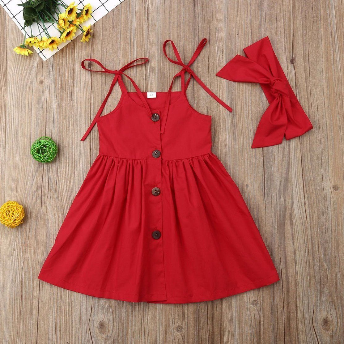 Cute As a Button Dress with Headband (2 Colors)