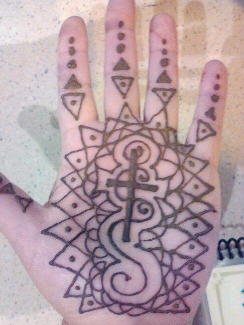 Henna Hand Design Custom Cross Religious Christ Henna Henna