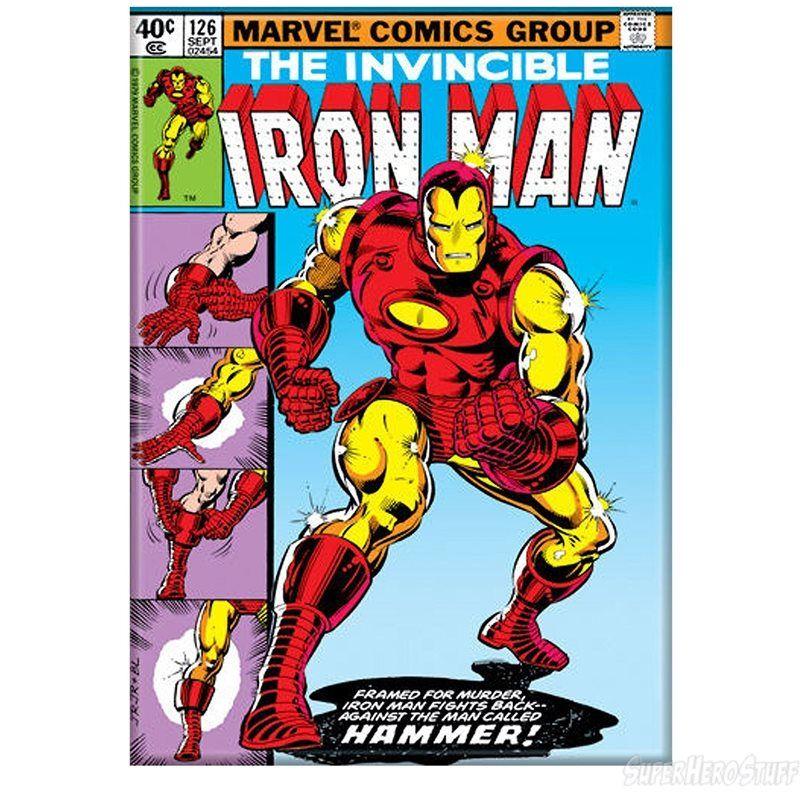 iron man suit up comic cover magnet  iron man comic books