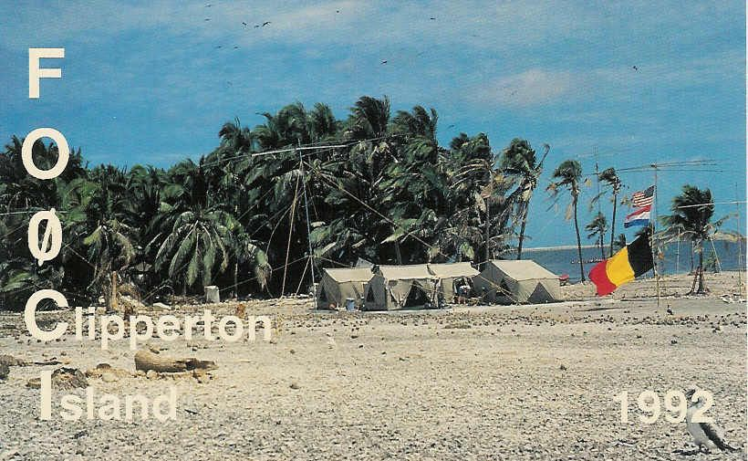 Clipperton island (http://www.w4hg.com/dxcc_f-h.htm)