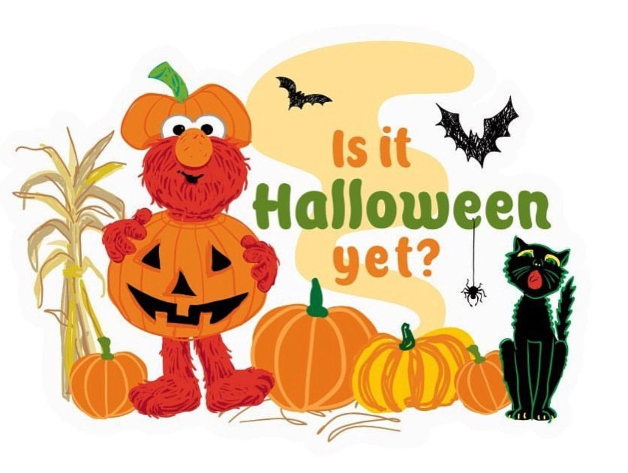 Elmo - Is It Halloween Yet? | Toddler art projects, Sesame ...