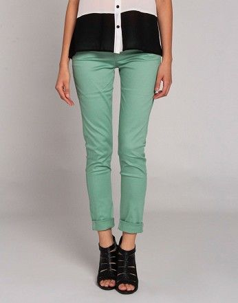 Slack Jeans in Mint. Love these!