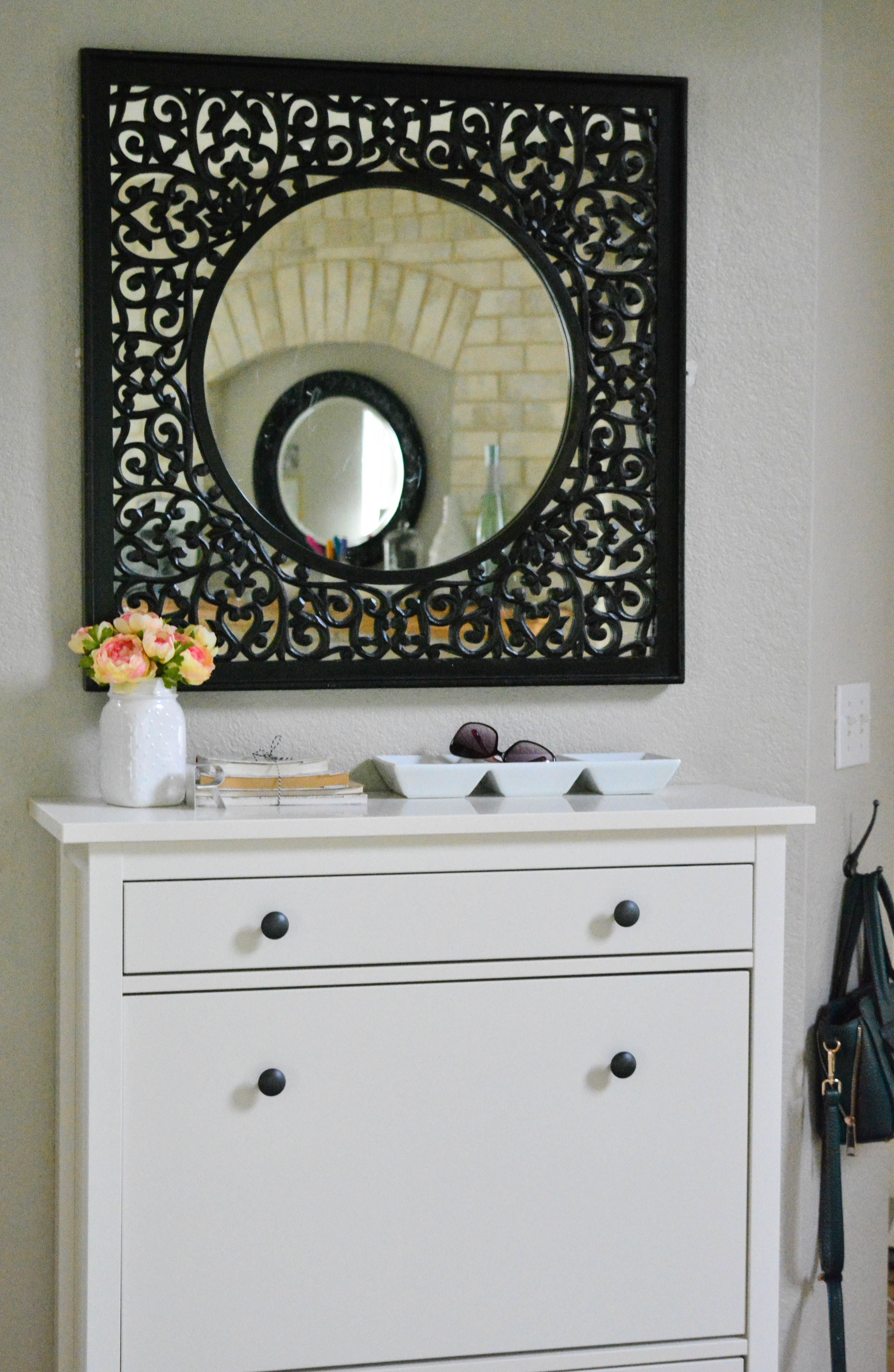 Perfect Review On Using The Ikea Hemnes Shoe Cabinet To Organize Your Familyu0027s Shoes.  Plus, Ideas On Refinishing It To Make It Look Awesome In ...