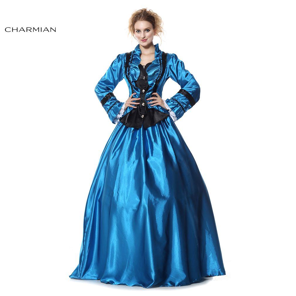 Charmian de Femmes Gothique Victorien Parole Longueur robe de Bal ...