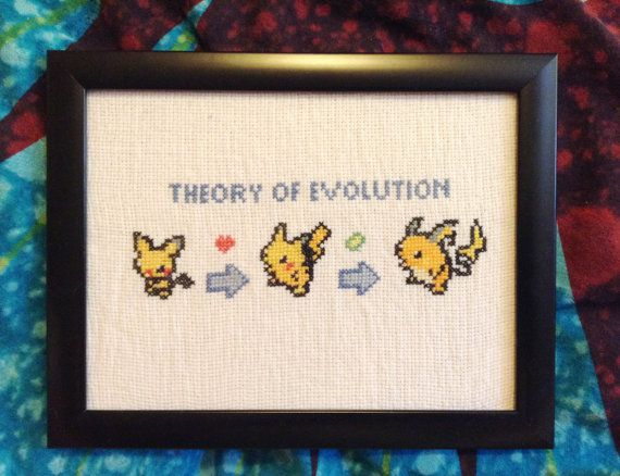 Theory Of Evolution Pokemon Inspired Cross Stitch In A