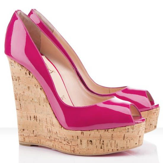 christian louboutin shoes une plume 140mm wedges framboise things rh pinterest com