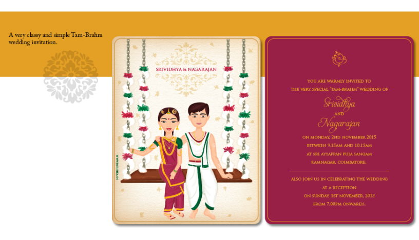 Image Result For Brahmin Wedding Invitations In Wedding Wedding