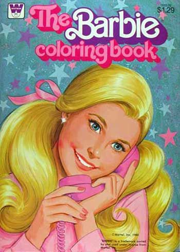 Barbie Coloring Book Too Special For Crayons My Big Sis Gave It